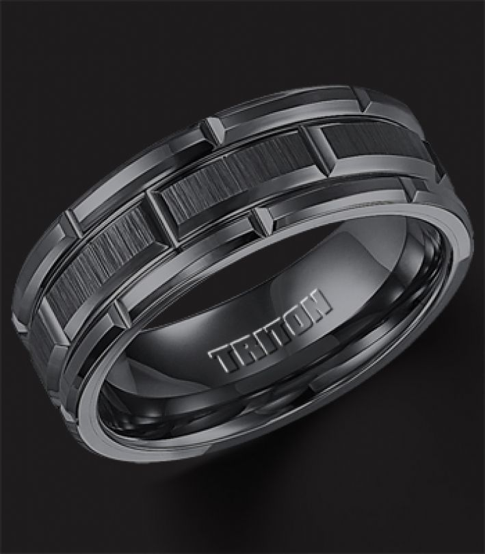 mens wedding band | Home / Wedding Bands / Men's Wedding Bands / Black Tungsten Carbide ...