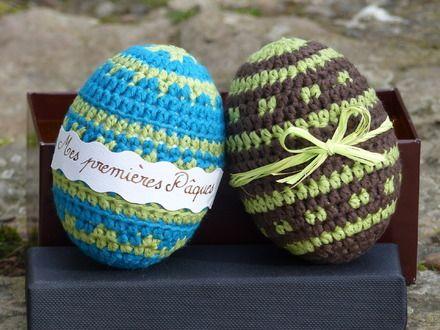 des œufs premières pâques pour les bébés! http://www.alittlemarket.com/accessoires-de-maison/fr_oeufs_de_decoration_premieres_paques_et_boite_fantaisie_-13405115.html
