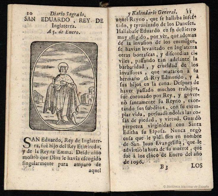 SAN EDUARDO, REY DE Inglaterra. Minguet e Yrol, Pablo 1733-1778 — Grabado — 1749