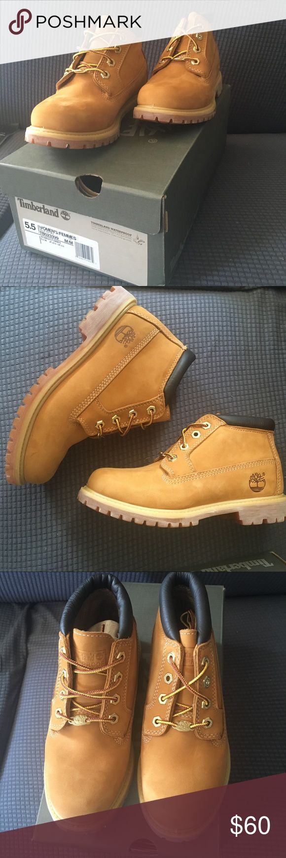Wheat/Tan Timberland Femme Boots Brand new never worn Wheat/Tan/Camel Timberland Femme Boots, short bootie ankle, size US 5.5 and EU 36. Comes in box with all original packing/wrapping Timberland Shoes Ankle Boots & Booties