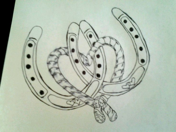 horse shoe tattoos | This Is A Rough Drawing Of My First Tattoo That - Free Download Tattoo ...