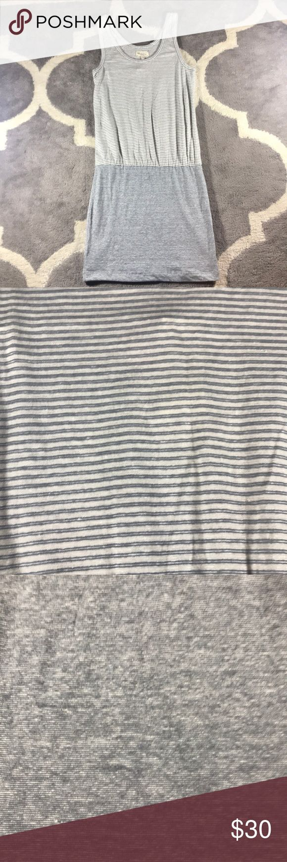NWT Lou & Grey Loft summer dress NWT Lou & Grey Loft grey striped dress! Perfect for the summer/beach dress! Material tag is cut out   🔹armpit to armpit 16 inches  🔹length 39 inches  🔹condition- NWT never been worn Lou & Grey Dresses