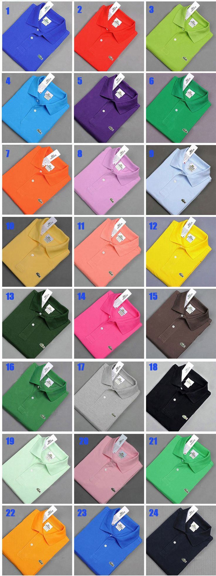 LOT FOR SALE!6PCS MEN LACOSTE SHORT-SLEEVED SHIRTS ONLY $149