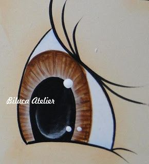 Painted eye tutorial.                            ojos para fofuchas de Biluca Atelier