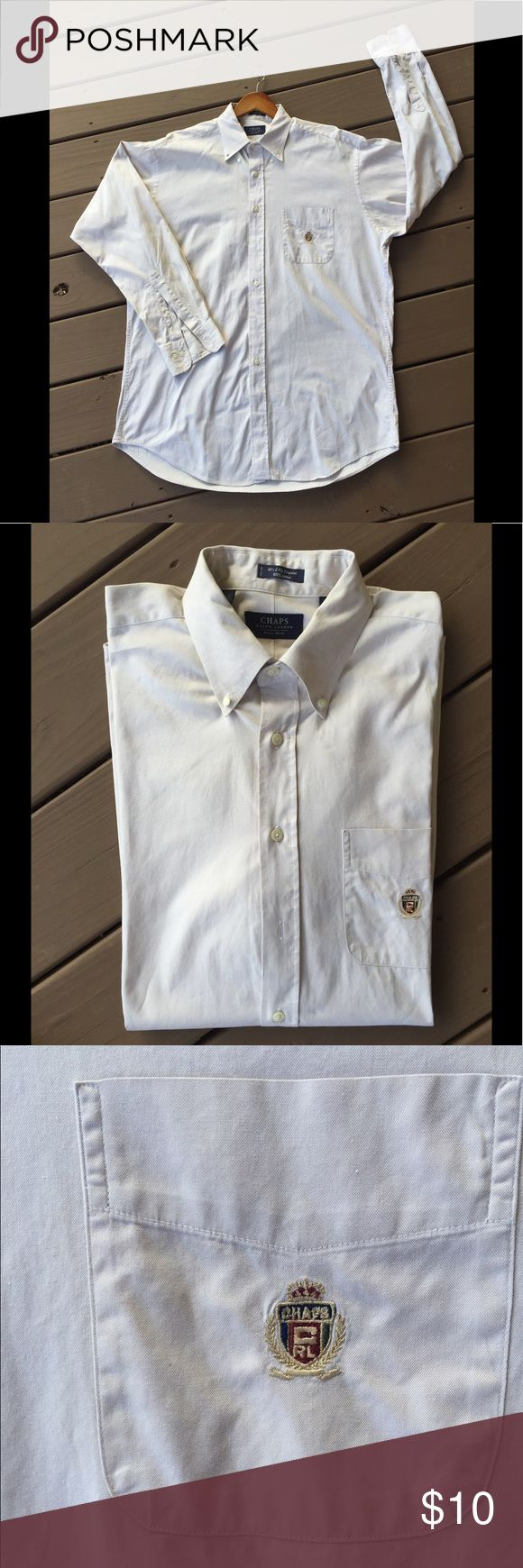 Chaps Ralph Lauren Dress Shirt Size 16 1/2 Chaps Ralph Lauren Dress Shirt Size 16 1/2 100% Cotton. My husband recently cleaned out his closet and I am selling his previous wardrobe.  Comes from a pet free and smoking free home. Accepting bundle for additional discount. Chaps Shirts Dress Shirts