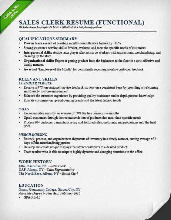 Pin by Sharon Tether on college Sales resume examples, Sales