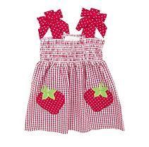 Emily Rose  Strawberry Seersucker Dress 12M