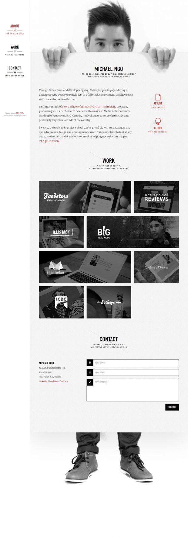 Portfolio of Michael Ngo - Front-End Developer and UX designer - www.niceoneilike.com - #Portfolio, #Development, #Creative, #Inspiration, #Design, #Website