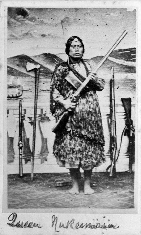 Peyman, Benjamin, 1823/24-1897 :Portrait of Victoria `Queen of the Nukumaru