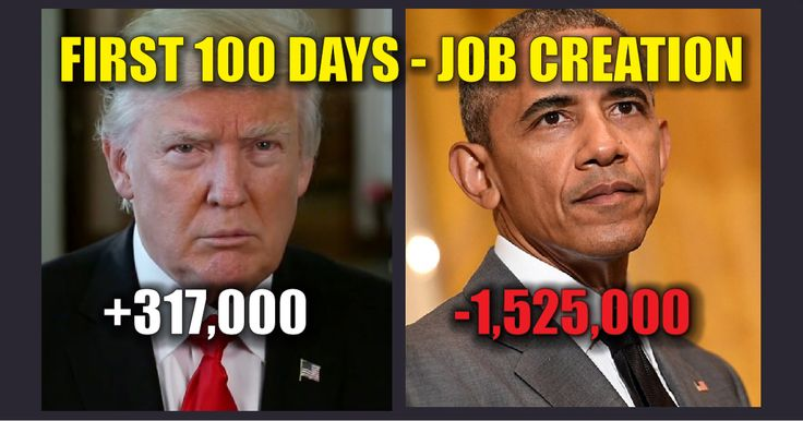 BREAKING: Trump's First 100 Day Job Creation vs. Obama Is A BLOWOUT ...