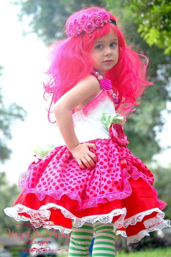 Strawberry Shortcake Custom Doll Costume Halter by VeryChicBaby, $85.00