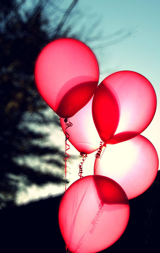 Opaque red balloons