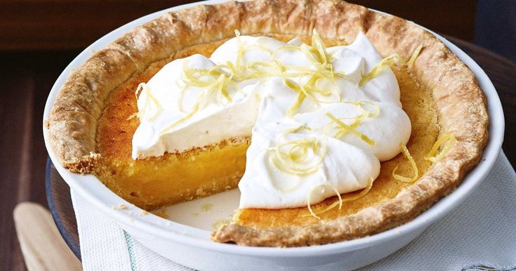 Try this homemade lemon pie recipe with an easy shortcrust pastry for the perfect end to a luxurious meal.