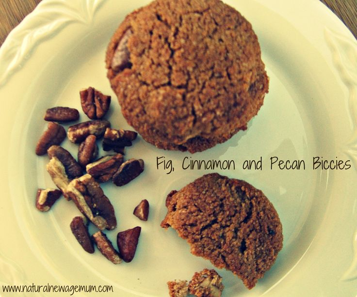 Healthy Fig, Cinnamon and Pecan Biccies. Gluten-free, dairy-free, egg-free, thermomix friendly.