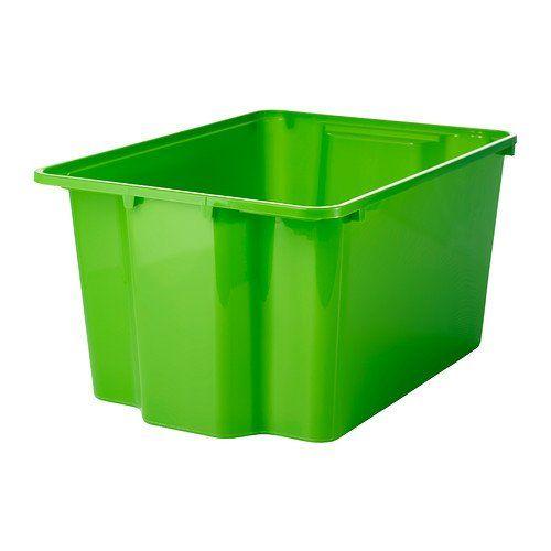 IKEA GLES - Box, green - 28x38x20 cm Ikea http://www.amazon.co.uk/dp/B00GMMF3QG/ref=cm_sw_r_pi_dp_OgAcvb1MSREEX