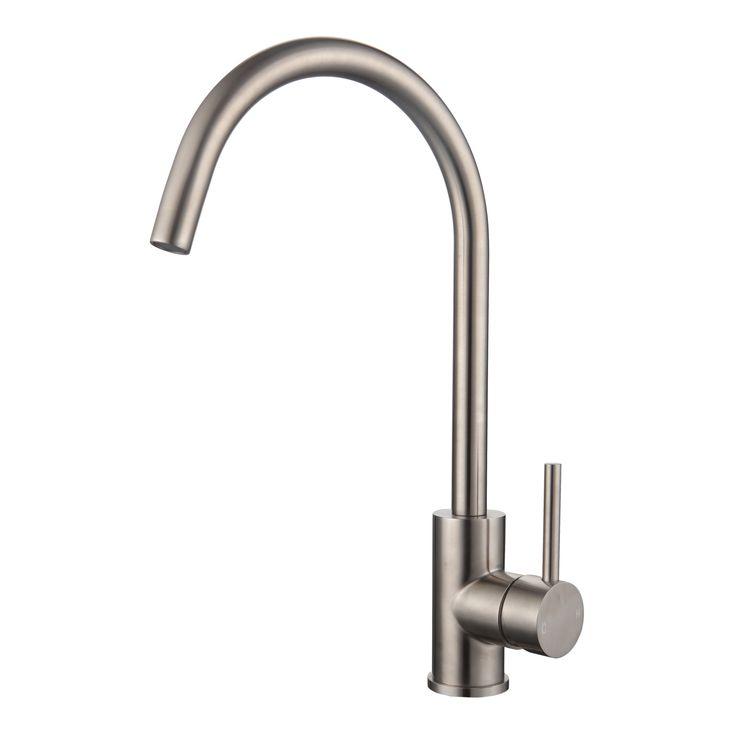 Mondella WELS 5 Star 6L/min Resonance Stainless Steel Curved Sink Mixer