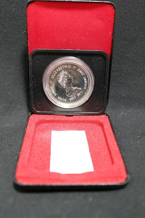 Canada 1977 Silver Jubilee Com Elizabeth II Dollar Coin  #Canadian #silver #dollar #coin #proof