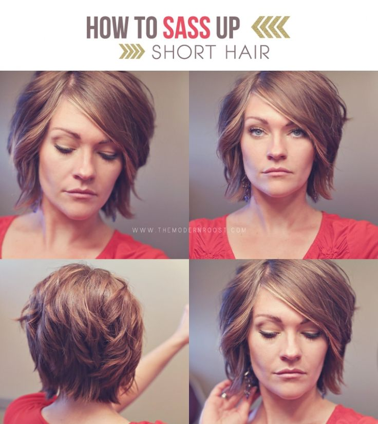 Sass up short hair tutorial Via THE MODERN ROOST. If I ever went short short, this would be it
