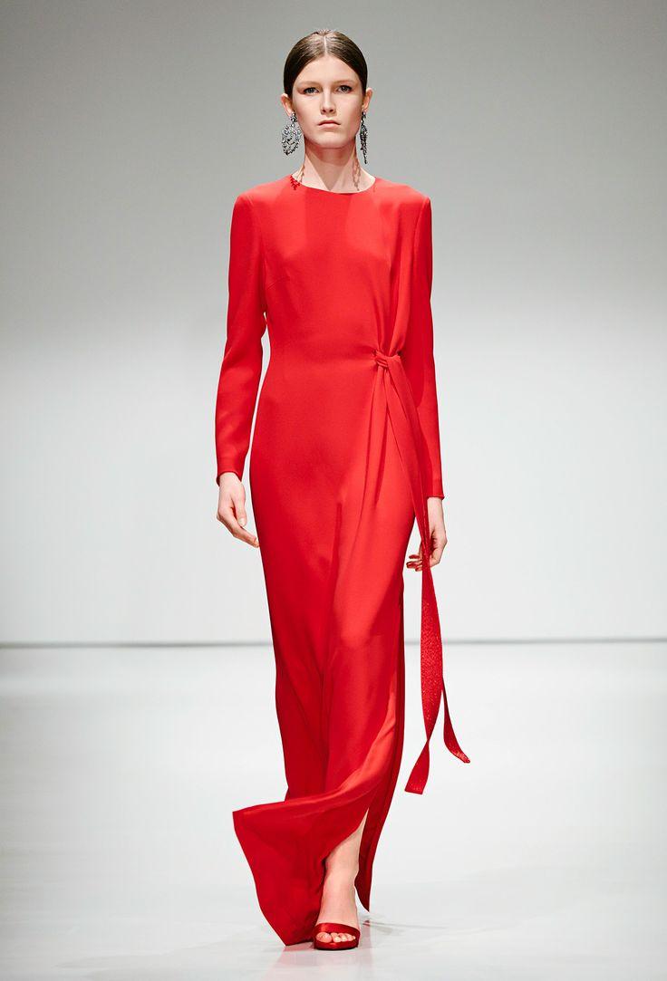 Red Gown - Escada Fall 2016 Ready-to-Wear Fashion Show
