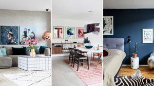 Selv om Anne Sofie Kamphøvener og Aske Ebbesen er meget enige om, hvordan deres lejlighed skal se ud, er det mest Anne Sofie, der står for indretningen. Og hun holder af enkel indretning og et farvevalg, der begrænser sig til primærfarverne rød, blå og gul.