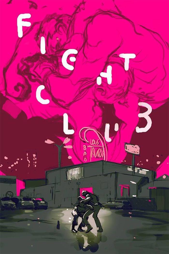 Fight Club by Tomer Hanuka - Home of the Alternative Movie Poster -AMP-