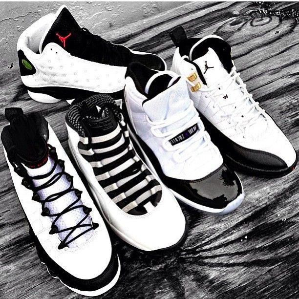 Black & White Air Jordans