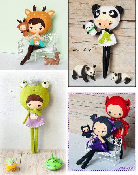 Невероятно милые создания из фетра от Noia land (США): http://www.baby-answer.ru/ #игрушки #воспитание_детей #mycontriver