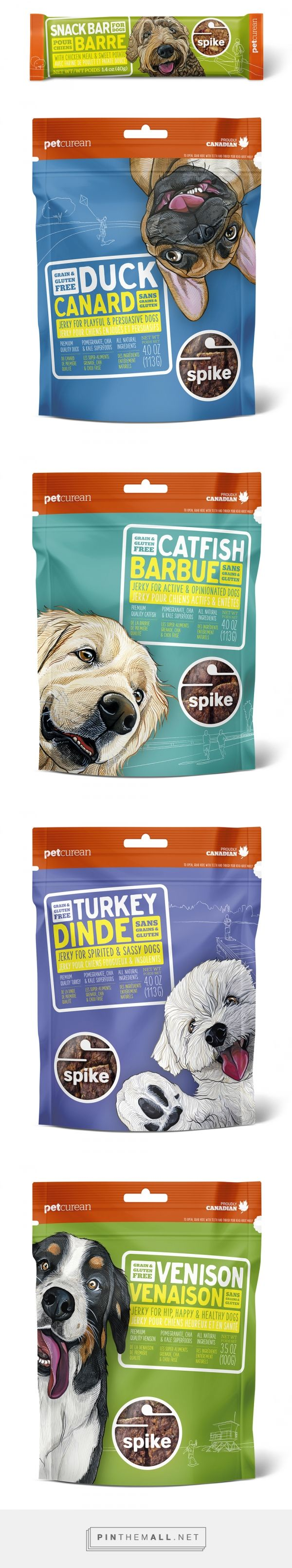 Editorial and Commercial Gallery | Art by Manda curated by Packaging Diva PD. Petcurean Spike treat packaging.