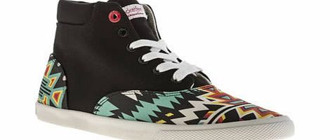 bucketfeet Multi Archer Mid Trainers Leave that old dusty painting on the wall - everyone is wearing contemporary art on their feet nowadays, thanks to BucketFeet. The canvas Archer Mid features a multi-coloured Aztec-esque print on the  http://www.comparestoreprices.co.uk/womens-shoes/bucketfeet-multi-archer-mid-trainers.asp
