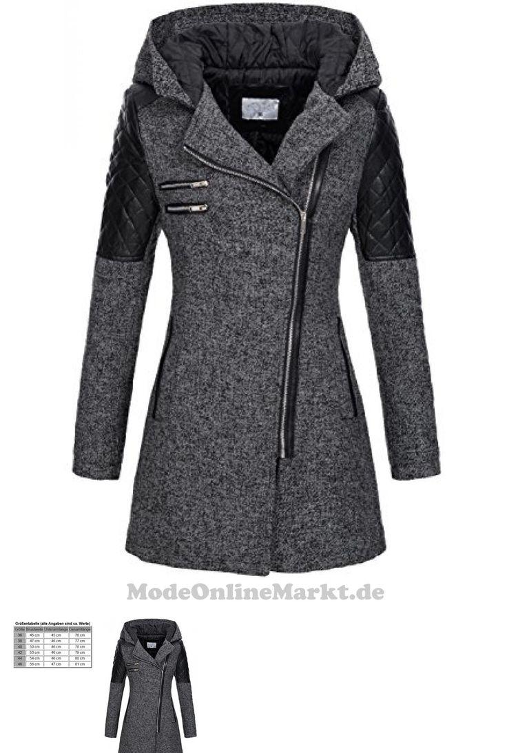 4260454855052 | #Peak #Time #Damen #Übergangs-Jacke #Woll-Mantel #Trenchcoat #V-1507 in #Schwarz #Gr. #36
