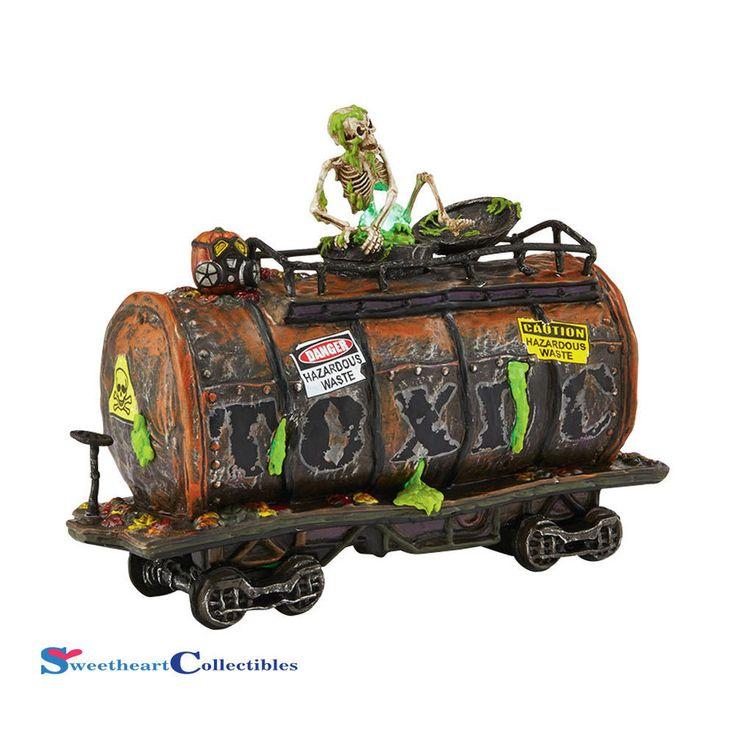 Department 56 Halloween Village 4042419 Haunted Rail Toxic Waste Car NIB