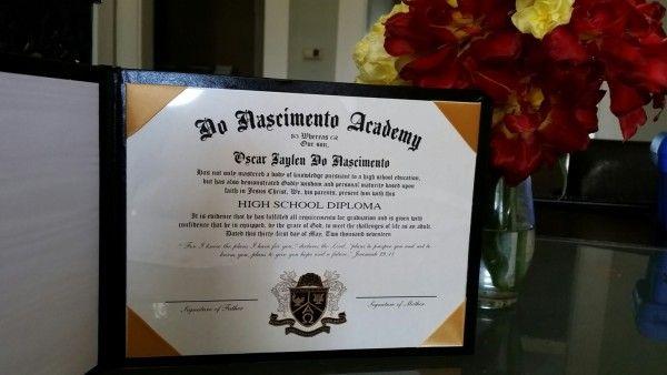 our homeschool diploma