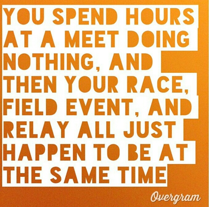 Ya know because discus and triple jump just so happen to be at the same time