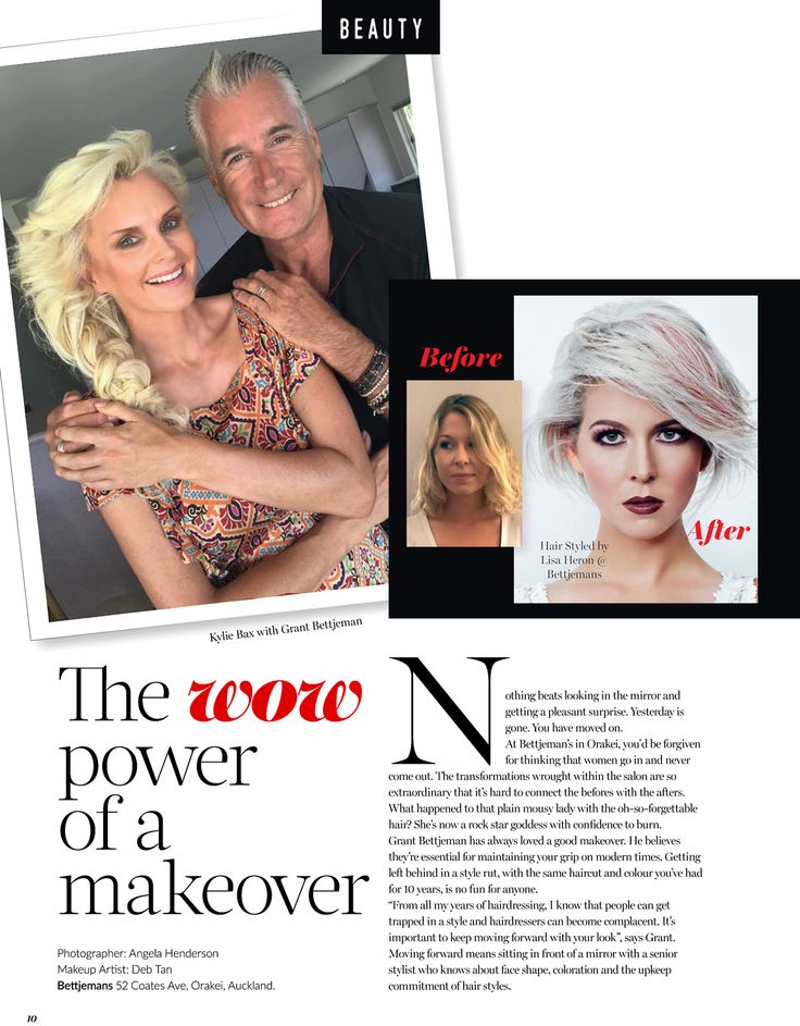 """The power of the makeover can never be underestimated. In this article in the latest Paula Ryan Style magazine, Grant Bettjeman shows you some examples of that WOW factor. """"At Bettjemans in Orakei, you'd be forgiven for thinking that women go in and never come out. The transformations wrought within the salon are so extraordinary that it's hard to connect the befores with the afters."""""""