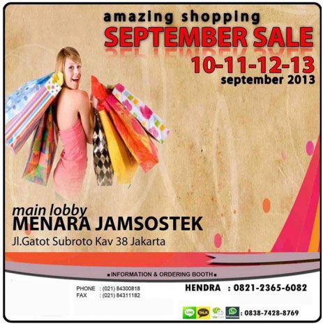 Amazing Shopping September Sale 2013 http://bit.ly/1cWOdbe