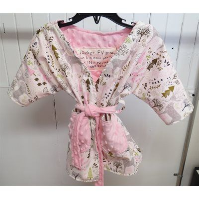 Robe de chambre - Rose (Grandeur: 18-24 mois)