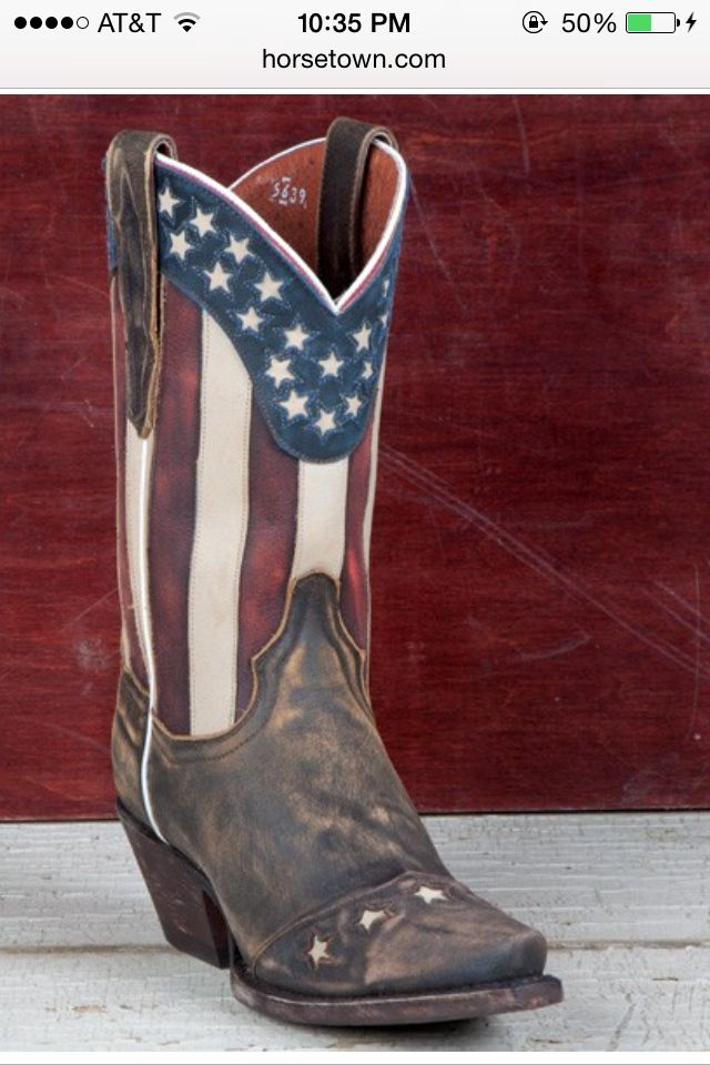 American Flag boots, perfect for Independence Day! horsetown.com