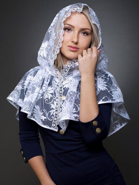 """Нашла эту супер-идею """"Как сшить платок для храма"""" у рукодельницыМаюття.Думаю, может многим пригодится! Далее слова Автора: Чем хороши подобные платки для храма? они не спадают с головы даже пр…"""