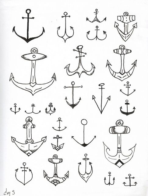 AnchorsTattoo Ideas, Inspiration, Anchors Design, Art, Anchor Tattoos, Tattoo Design, Anchors Tattoo, Nautical, Ink
