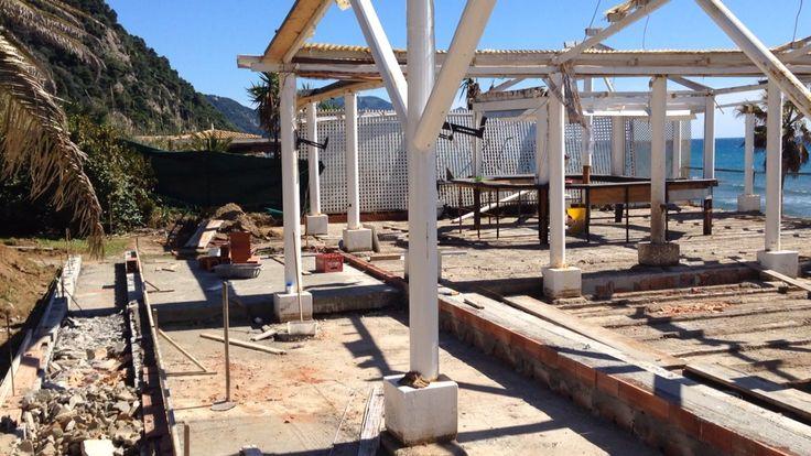New project from summer... Corfu glufada beach.. Under construction....!!!!