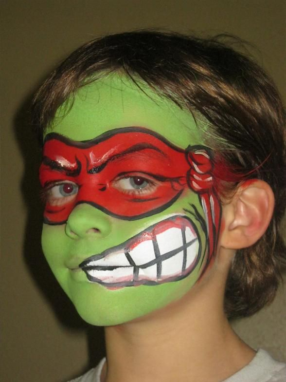 turtle face paint | We can easily create a theme party just for you. One of our most ...