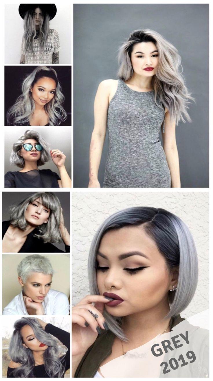 Grey Hair Trends 2019 greyhaircolor greyhair (With