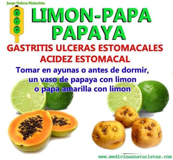 Remedio para la gastritis, úlceras y acidez estomacal
