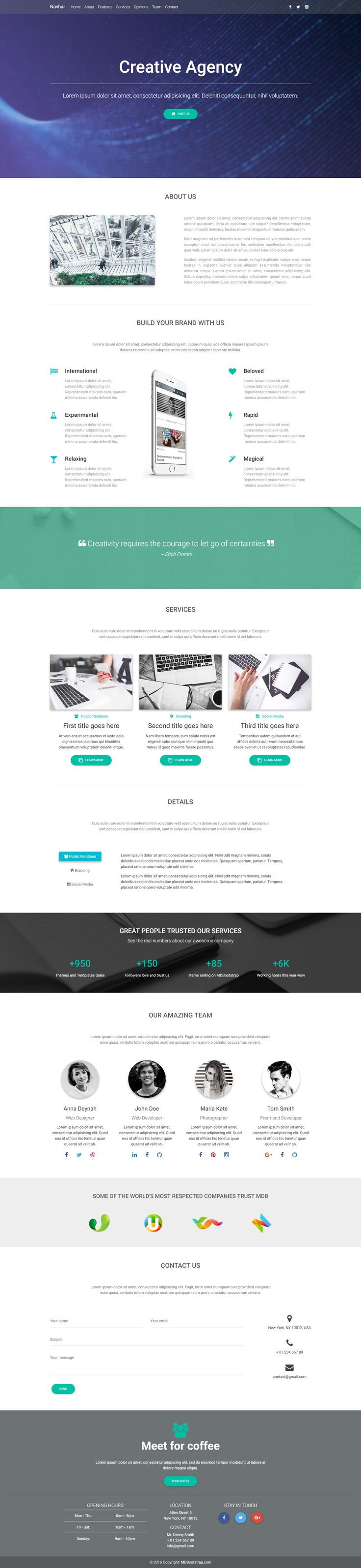 Creative Agency Landing Page