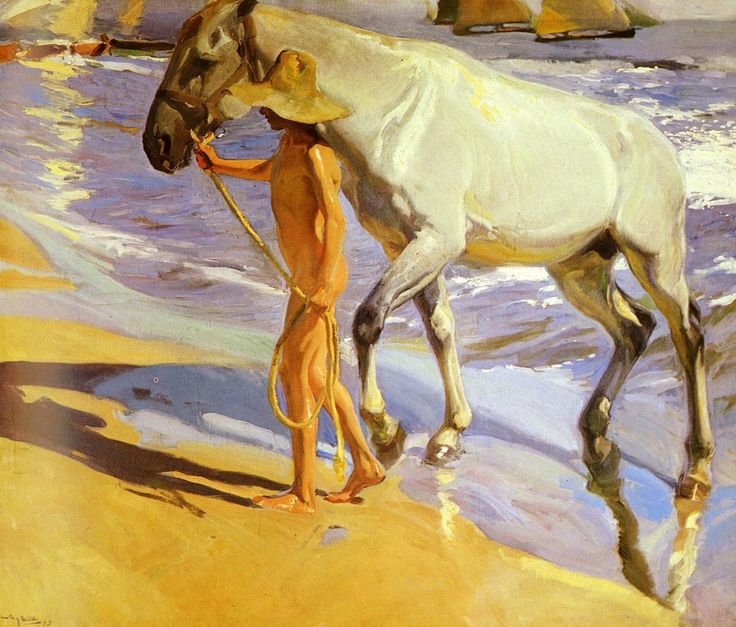 El bano del caballo [The Horse's Bath] by Spanish painter Joaquin Sorolla