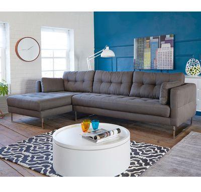 Click to zoom - Paris left hand corner sofa dark grey