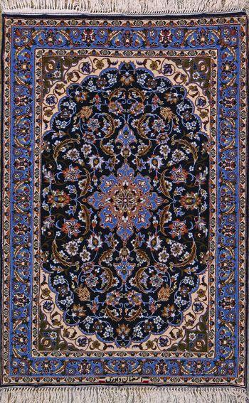 Esfahan Persian Rug, Buy Handmade Esfahan Persian Rug 2 4 x 3 6, Authentic Persian Rug $1,540.00