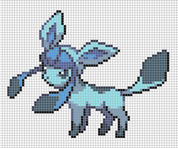 Glaceon by Hama-Girl.deviantart.com on @deviantART