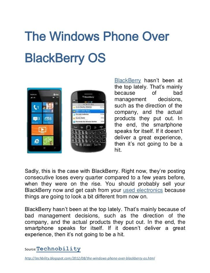 the-windows-phone-over-blackberry-os by Emdhie Nah via Slideshare