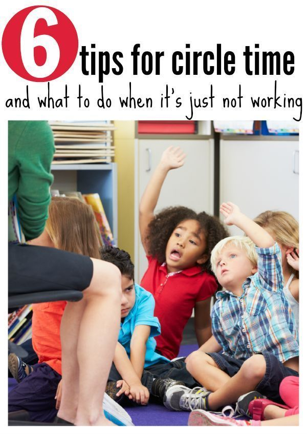 circle time ideas for preschool and pre-k.  Great ideas for classroom management during circle time.